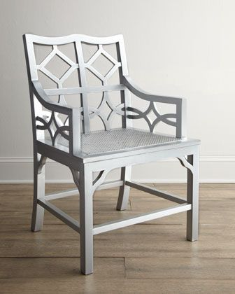 """Abilena"" Fretwork Armchair at Horchow.  #HORCHOW"