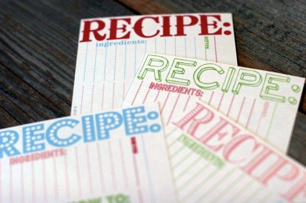 downloadable & printable recipe card templates (finally!)
