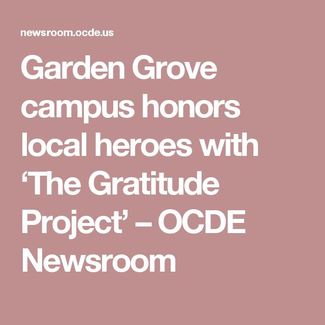 Garden Grove campus honors local heroes with 'The Gratitude Project' – OCDE Newsroom