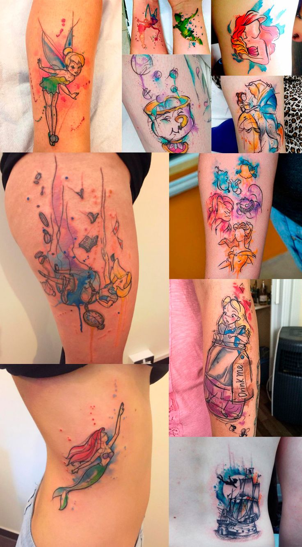 tattoo-tatuagem-aquarela-disney