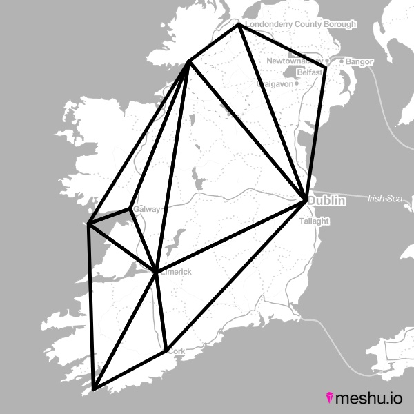 this is my trip to ireland through meshu, you can make it into geometric jewelry!