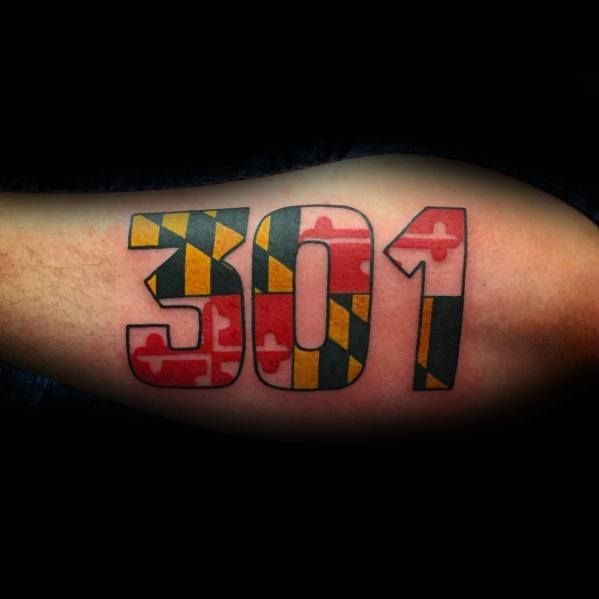 50 Maryland Flag Tattoo Ideas For Men State Flag Designs Maryland Tattoo Flag Tattoo Maryland Flag