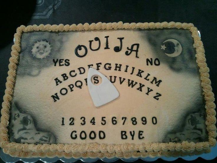 Ouija Board Cake cakepins.com