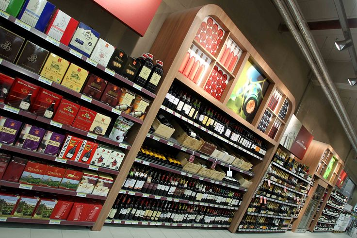 Agencement grande distribution alimentaire, mobilier vins, Match Belgique   Groupe Lindera
