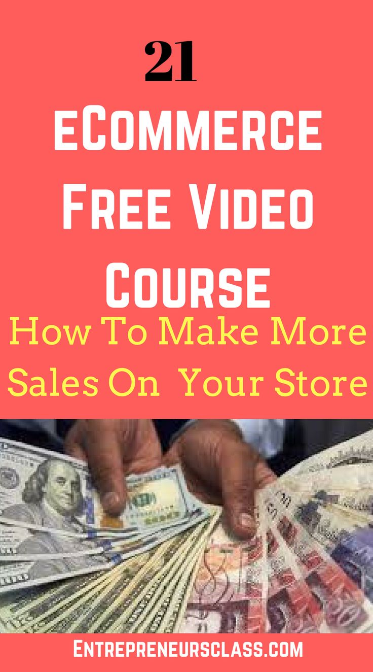 eCommerce Store Video Course – 21 Free Video Course To Earn Sales on Online Store.Learn how to make money from drop shipping and shopify.
