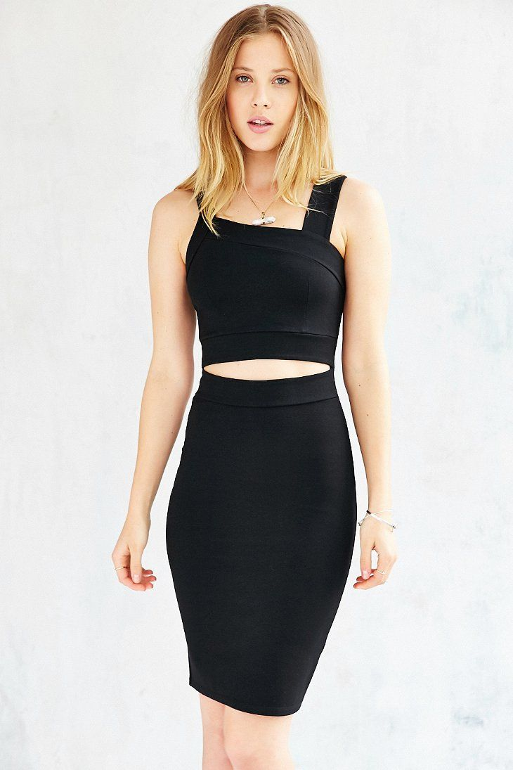 Silence + Noise Cut-Out Bodycon Midi Dress - Urban Outfitters