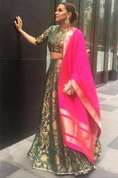 Neha-Dhupia-in-Payal-Singhal Without the pink shawl though
