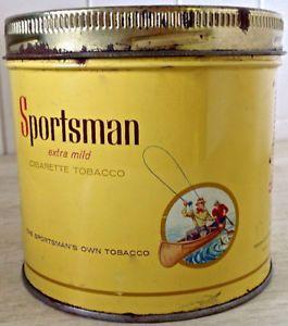 Antiquité 1960 Collection Boîte en fer SPORTSMAN L