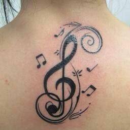 Hermoso Clave de Sol con Notas Musicales