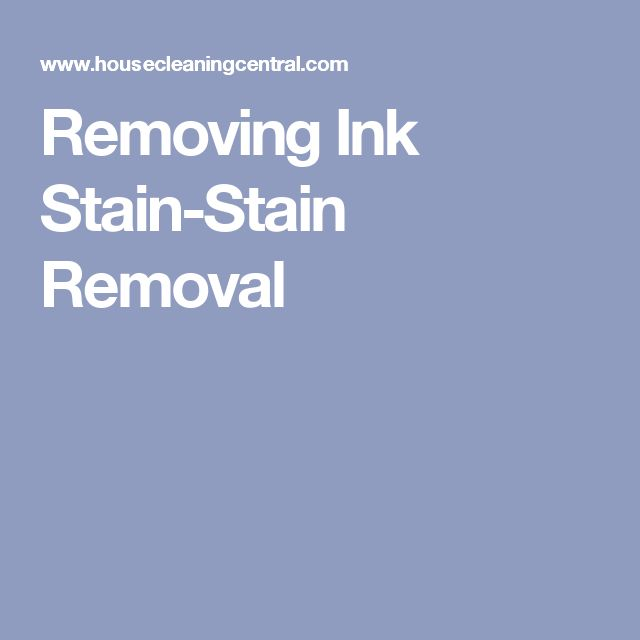 Removing Ink Stain-Stain Removal