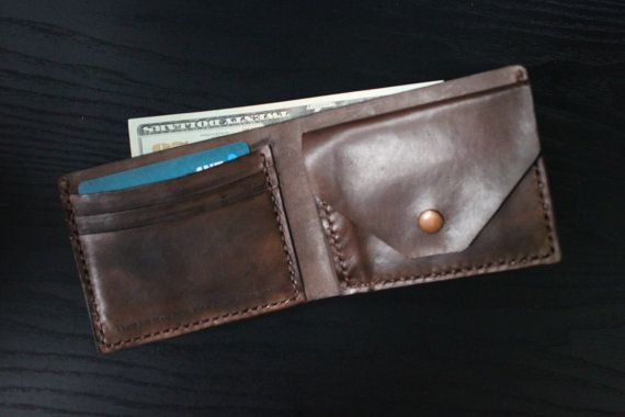 Mens Leather Wallet with Coin Pocket  All Currency by lotussilk
