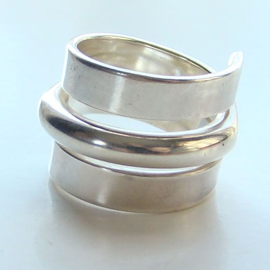 Modernist Sterling Silver Ring Norway Plus Design by redroselady, $175.00