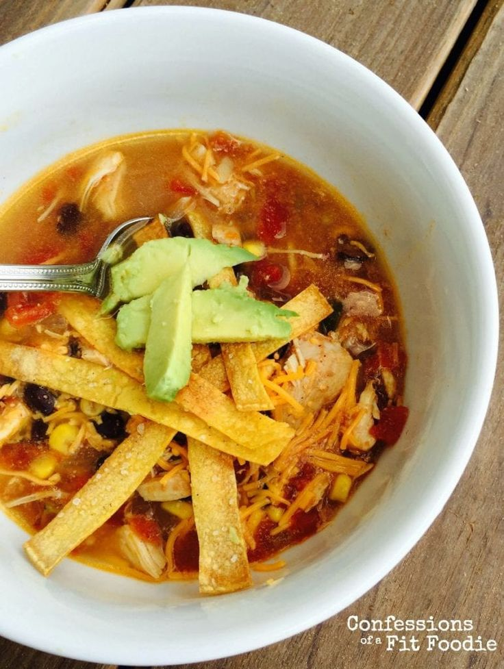 Crock Pot Chicken Tortilla Soup {21 Day Fix Recipe} – Confessions of a Fit Foodie