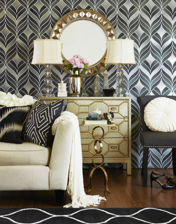 Luxurious neutral with elements of gold and silver - and maybe just a hint of Art Deco . . .