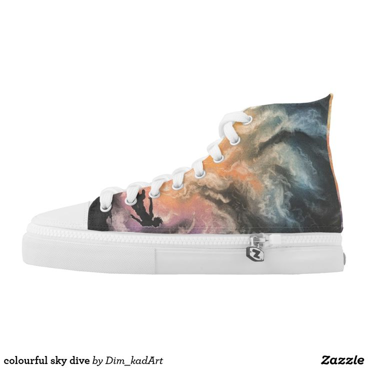colourful sky dive #shoes #printedshoes #sneakers #fashion #ForAll #giftideas