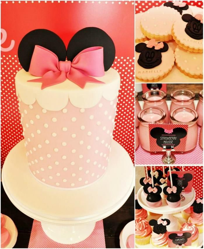 Vintage Minnie Mouse Party with REALLY CUTE IDEAS via Kara's Party Ideas | Kara'sPartyIdeas.com #Vintage #MickeyMouse #Party #Idea #Supplies (1)