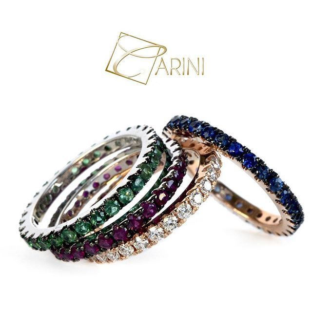 We create your Eternelle with any gem you want: white, black and brown diamonds-blue sapphires-emerald-rubies. Elegance and unique class in its simplicity! What do you prefer? #carinigioielli #handcrafted #jewels #handmade #marryme #howheasked #shesaidyes #imengaged #engagementring #futurebride #bridetobe #isaidyes #fiancé #girl #iloveyou #diamond #eternityring #igersjewelry #igersetsy #etsyhandmade #ideematrimonio #weddingplanner #anellidifidanzamento