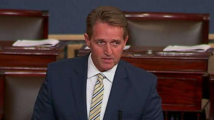 Sen. Jeff Flake takes heat for 'absurd' speech comparing Trump's press attacks to Stalin   Fox News. Flake is a Flake. Flake is a liar. Flake is a sensationalist. Flake is a flake.