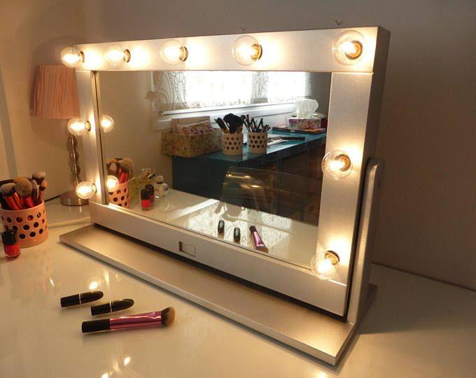 Super Sale Xxl Vanity Mirror 43x27 Hollywood Etsy Diy Ikea