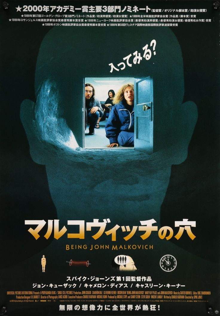 "Being John Malkovich (1999) Vintage Japanese B1 Movie Poster - 29"" x 41"""