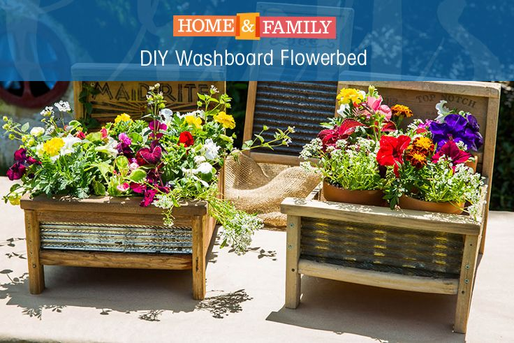 From our DIY Star finalist, Jeremy Rabe comes this unique and beautiful DIY Washboard Flowerbed. For more great DIYs be sure to tune in to Home & Family at 10/9c on Hallmark Channel!