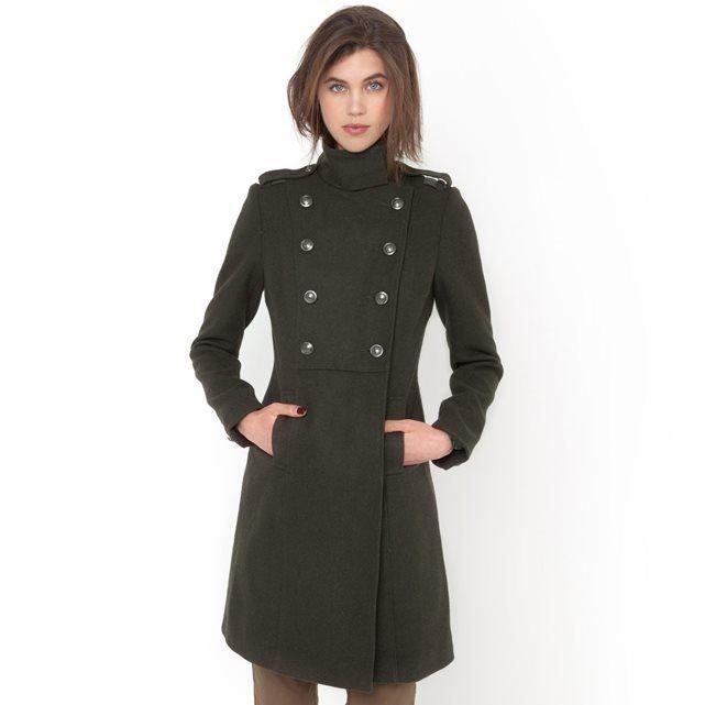 Compre Sobretudo estilo militar 45% lã Sobretudos, blusões na La Redoute. O melhor da moda online.