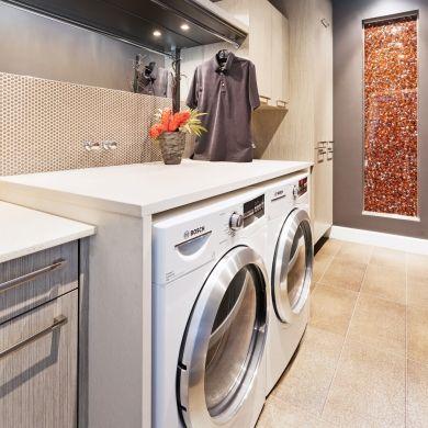 Une salle de lavage plein mur - Salle de bain - Inspirations - Décoration et rénovation - Pratico Pratique