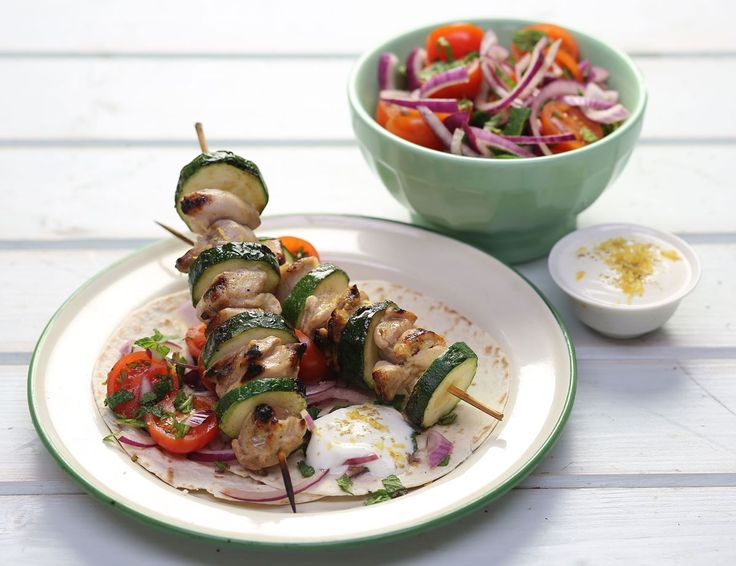 recipe: greek chicken souvlaki wrap recipe [32]