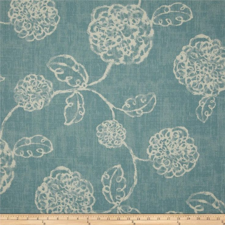Magnolia Home Fashions Adele Ocean from @fabricdotcom  Screen printed on (approx. 6 ounce) cotton duck, this versatile, medium weight fabric is perfect for window accents (draperies, valances, curtains and swags), accent pillows, bed skirts, duvet covers, slipcovers, upholstery and other home decor accents. Create handbags, tote bags, aprons and more. Colors include ivory and light blue.