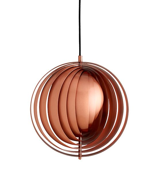 Verpan Moon Pendant Design: Verner Panton 1960 Manufactured under license by Verpan Dimensions (in): See dropdown Light Source: E27 (E26) max. 60W The Moon pendant is one of Verner Panton's earliest l