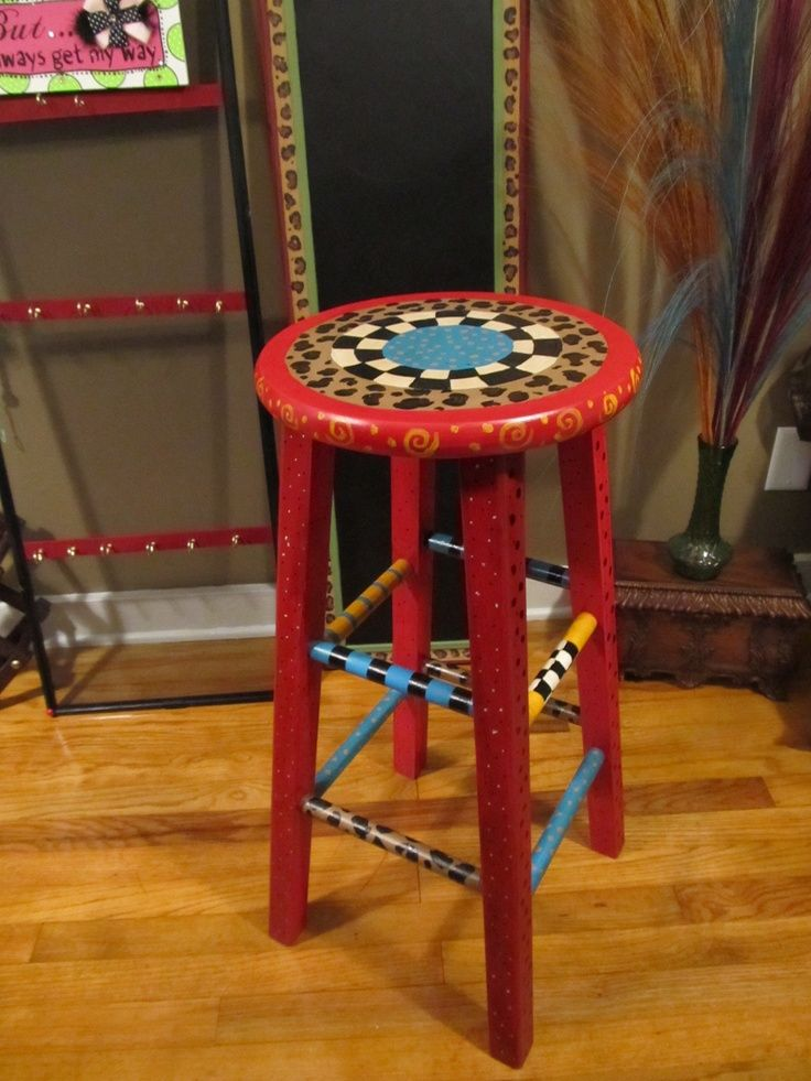 Painted Bar Stools Painted Bar Stool For The Home