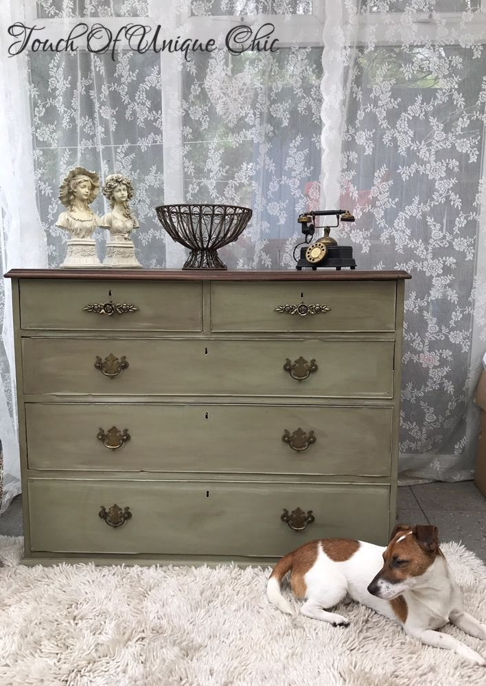 Antique Victorian Large Chest Of Drawers ⭐ Delivery Available ⭐   | eBay