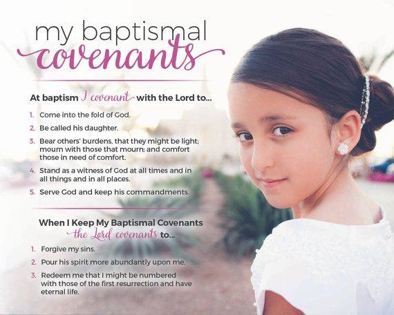 My Baptismal Covenants Personalized Photo - GIRL