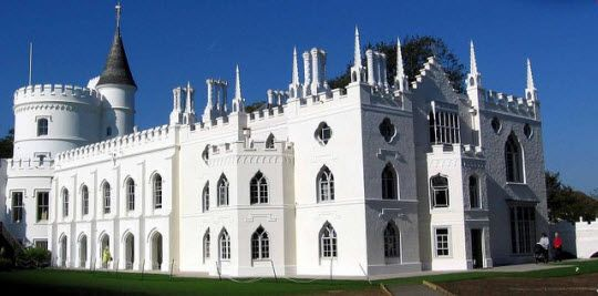 Strawberry Hill House visited March 2013
