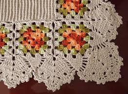 Resultado de imagem para como fazer um square de croche em barbante passo a passo