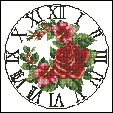 Orologio rose rosse 1/3