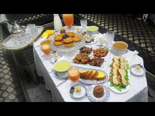 مائدة افطار رمضان بافكار سريعة و طريقة ربح الوقت 2017 Table Ftour Ramadan Cooking Table Settings Table