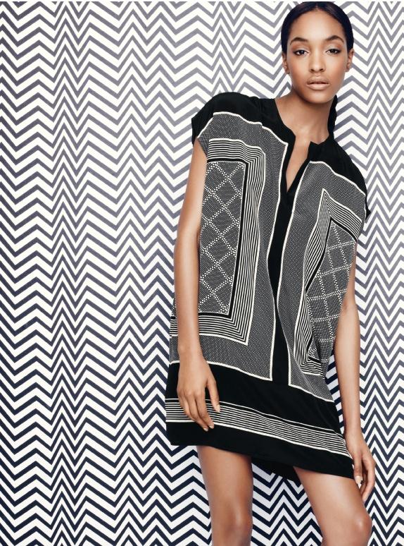 Black + White: Vince Scarf Print Dress #Nordstrom #FebruaryCatalog