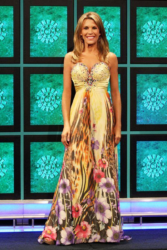 Vanna White in Alyce Paris formal dress