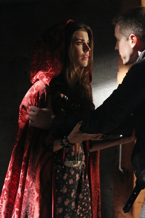"ONCE UPON A TIME - ""Child of the Moon"" - David Nolan (Prince Charming) helps his friend, Ruby (Red Riding Hood)."