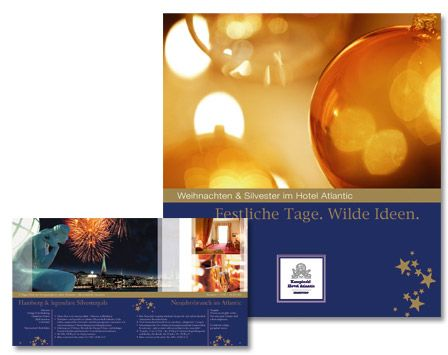 Kempinski Atlantic Festtags-Broschüre von Orange Cube