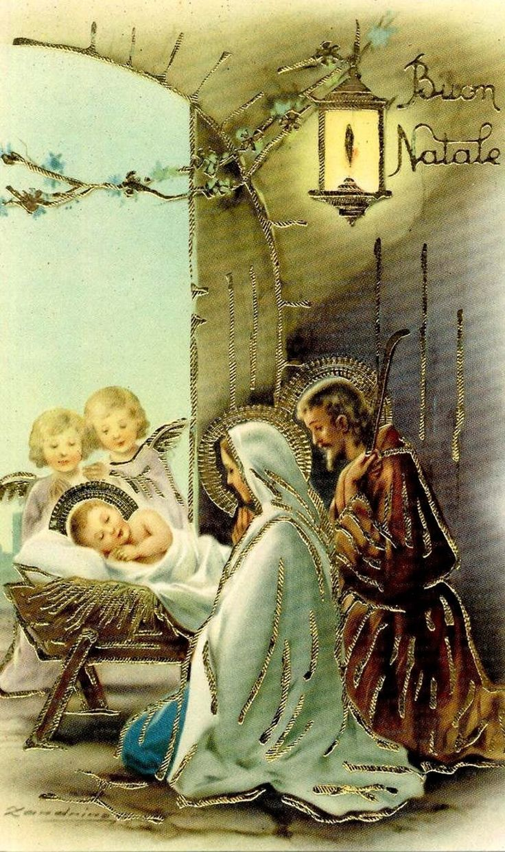 Boun Natale is Italian for Merry Christmas ~  The birth of our Savior! Nativity