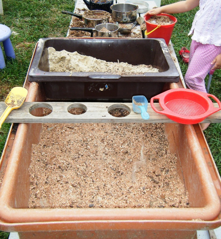 """Enrich play & learning with sand & water tables by creating different orientations, levels, spaces & holes ("""",)"""