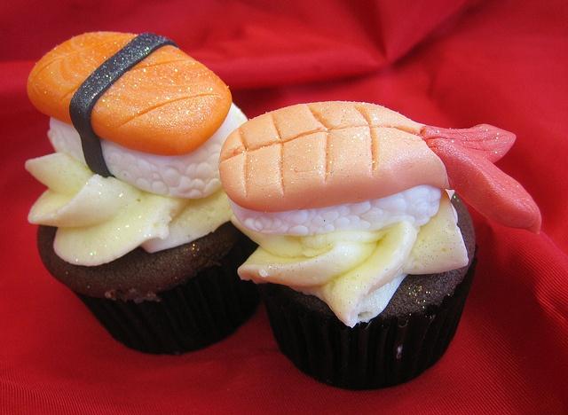 Sashimi cupcakes!!!!! :D Awesomesauce!