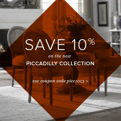 Use Picc1013 To Save 10% On The New Piccadilly Collection At  PlatypusHome.com.