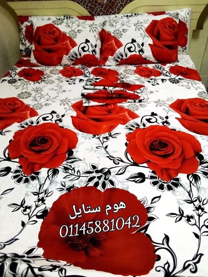 Red Rose 3d طقم سرير الوردة الحمرا Rose Flowers Alexander Mcqueen Scarf