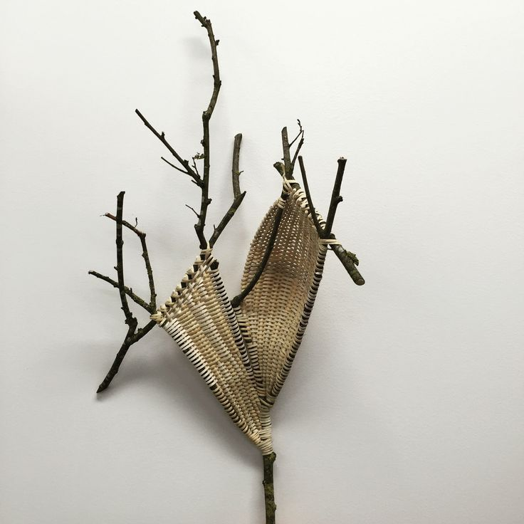 Catriona Pollard - Lichen www.theartofweaving.com.au 'Lichen' ribbed with twigs & cane. Thanks to Mary Johnson Hettmansperger for the tuition. #contemporarydesign #weaving #basketry #love #sculpture #art #interiordesign #contemporaryart #handmade #handwoven #foundobjects #foundobjectsculpture #fibreart #fiberart #artist #basketryartist #australianbasketry #fibreartist #basketart #woven #catrionapollard
