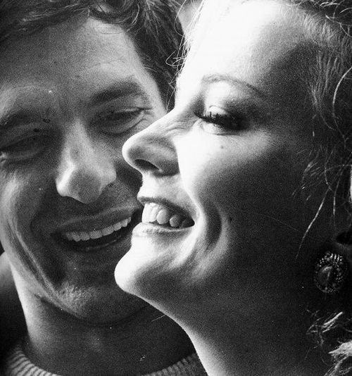 Gena Rowlands. Such beauty & humanity. Photographed with her husband/ collaborator, John Cassavetes.