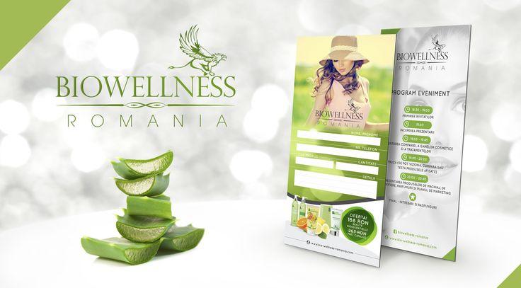 Promotional card design for Biowellness event