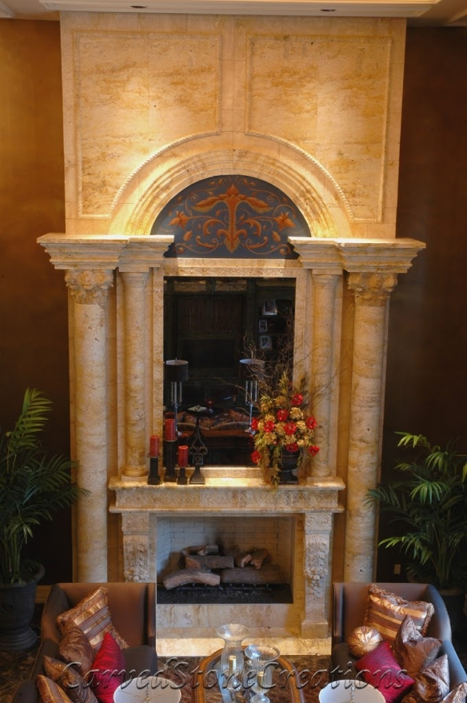 Travertine Stone Fireplace Designs : Best images about fireplaces on pinterest mantles